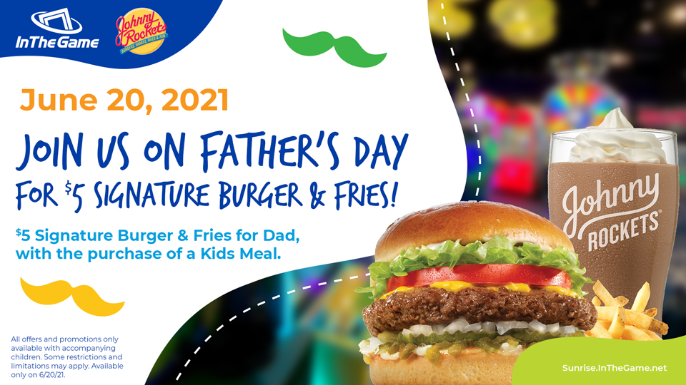 Father's Day $5 Burger & Fries